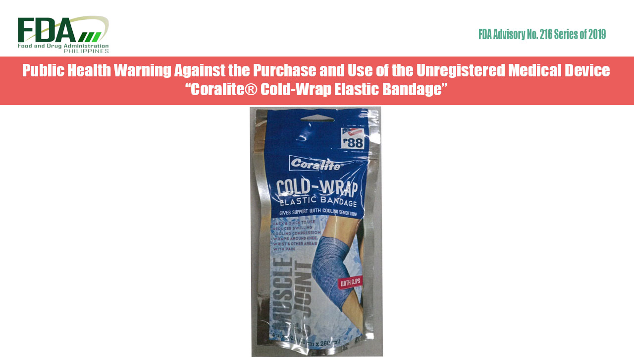 """FDA Advisory No. 2019-216 