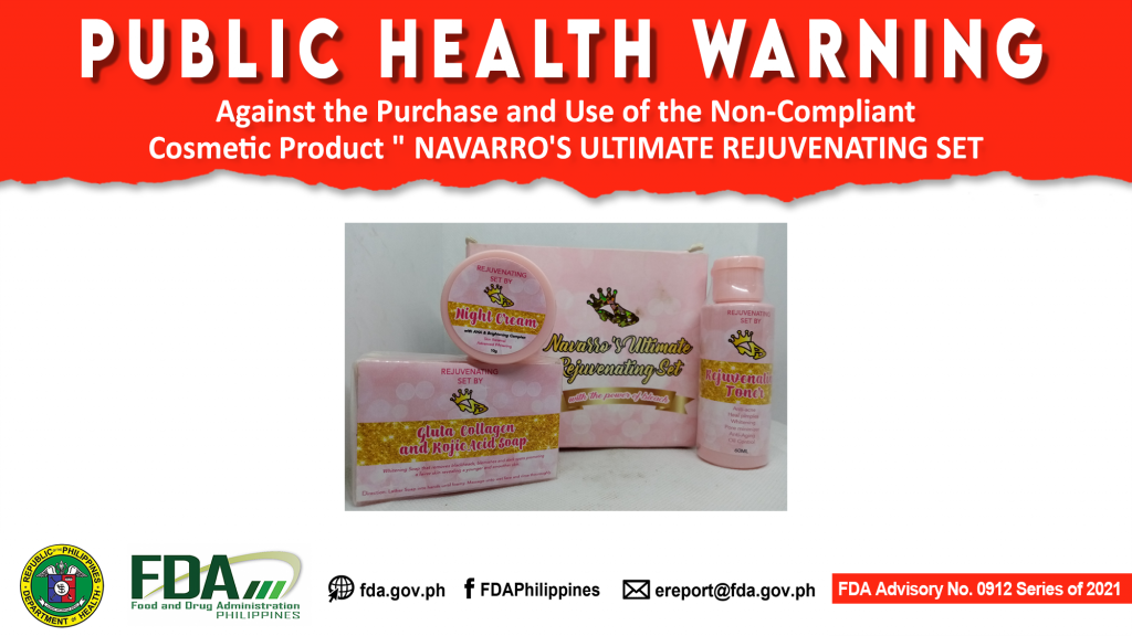 """FDA Advisory No.2021-0912 