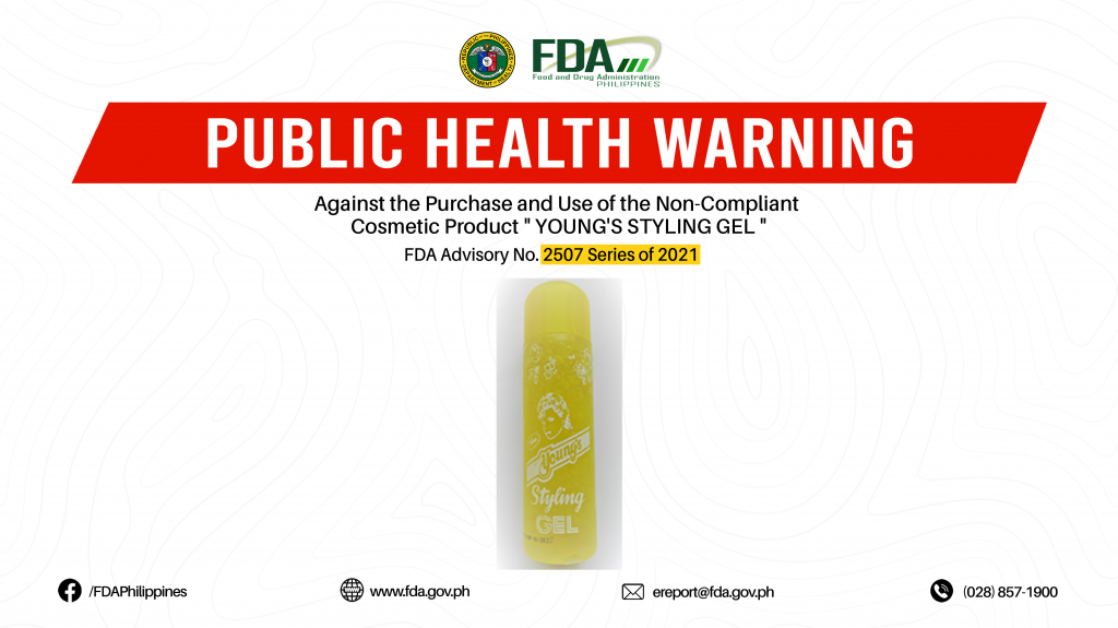 """FDA Advisory No.2021-2507 